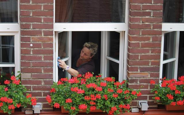 otírání okna